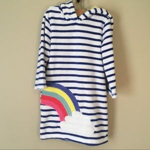 Mini Boden 2 3 Yr Rainbow With Stripes Coverup